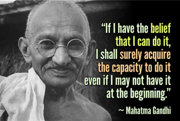 Gandhi photo and quote